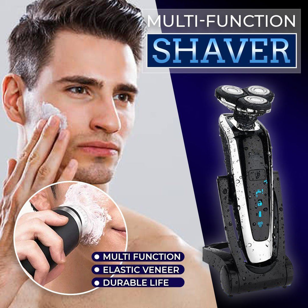 4-in-1 Rotary Three-Head Waterproof Shaver