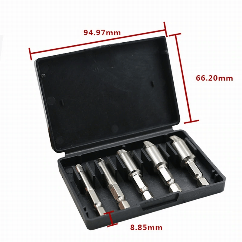 2-in-1 Premium Drill Bit & Screw Extractor - 5pcs