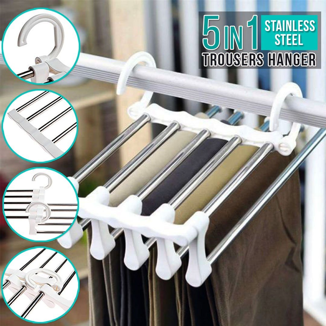 5-in-1 Foldable Trousers Hanger