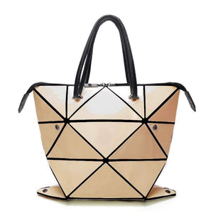 Geometric Deformed Folding Designer Handbag