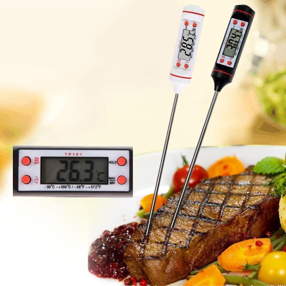 Smart Stainless Steel LCD Cooking Thermometer (Range from -58ºF to 572ºF)
