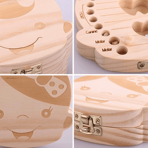 Wooden Milk Teeth Storage Box