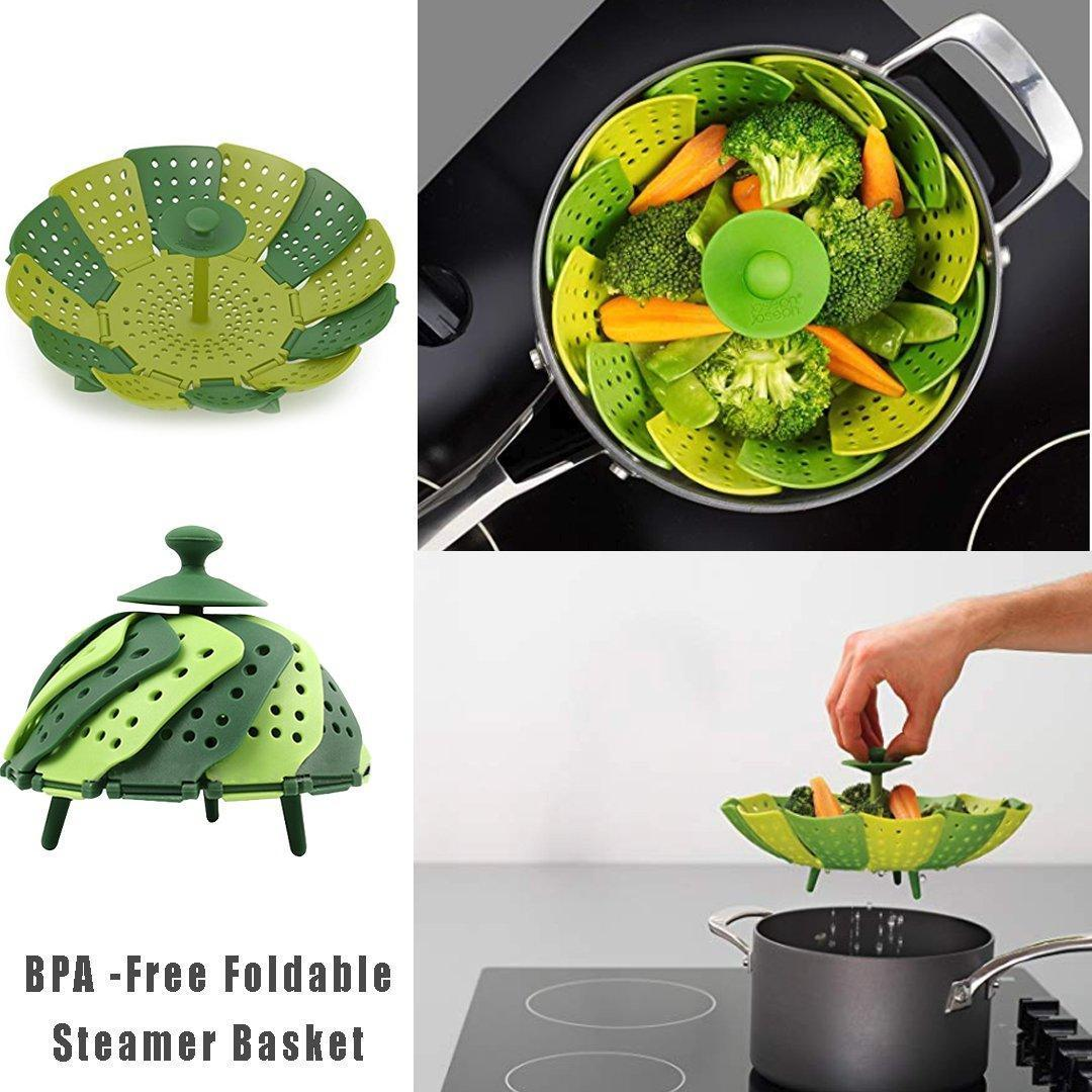 INSTCHEF™ Lotus Retractable Steamer Basket