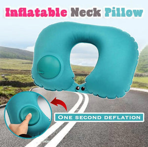 Built-in Pump Inflatable U-Shape Travel Pillow
