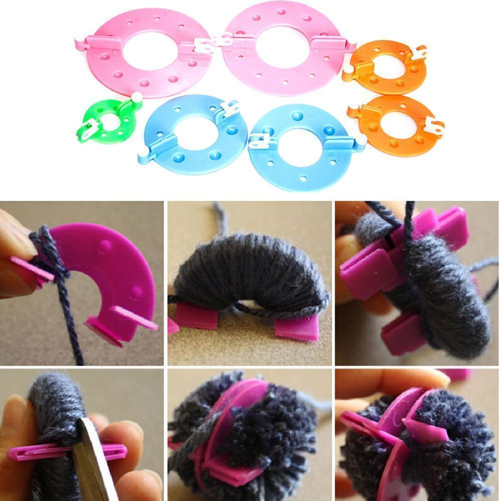 Fluffy Pom Pom Maker - 4 Sizes Set