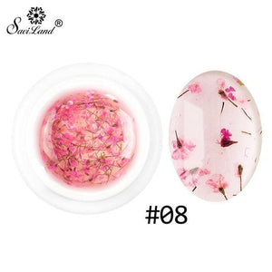 SAVILAND Natural Dried Flowers Nail Gel