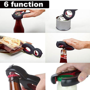 6 in 1 Multi-Function Twist Bottle Opener