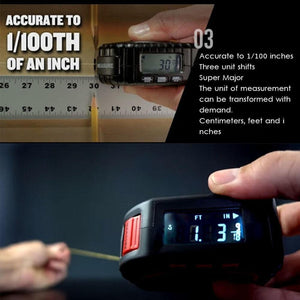 3 in 1 Digital Measuring Tape - Roll Mode / Tape Mode / Laser Mode