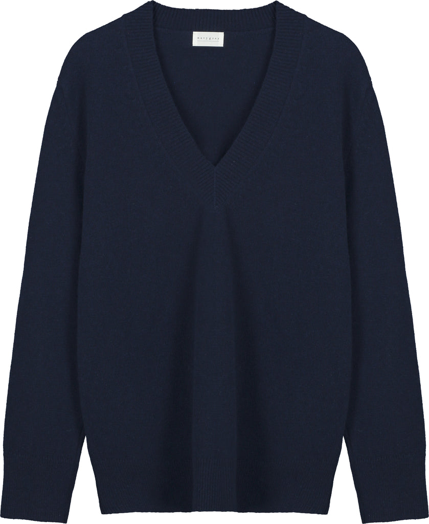 The V NECK - Navy