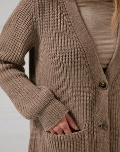 The HEIRLOOM CARDIGAN - Natural Brown