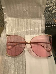 Blush Oversized Shades