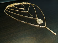 Load image into Gallery viewer, Gold Multi Chain Necklace