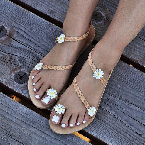 5985c9225d42e0 Women Flower Sandals Casual Slip On High Quality Shoes – LORDPENNY