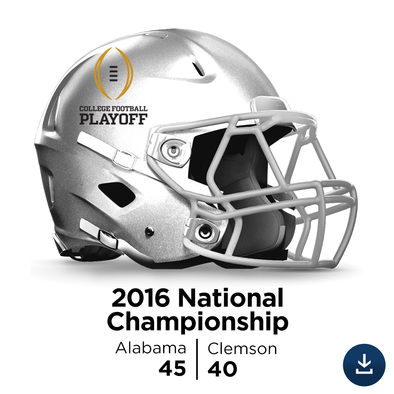 2016 National Championship: Alabama vs Clemson - Full-Length HD Video Download