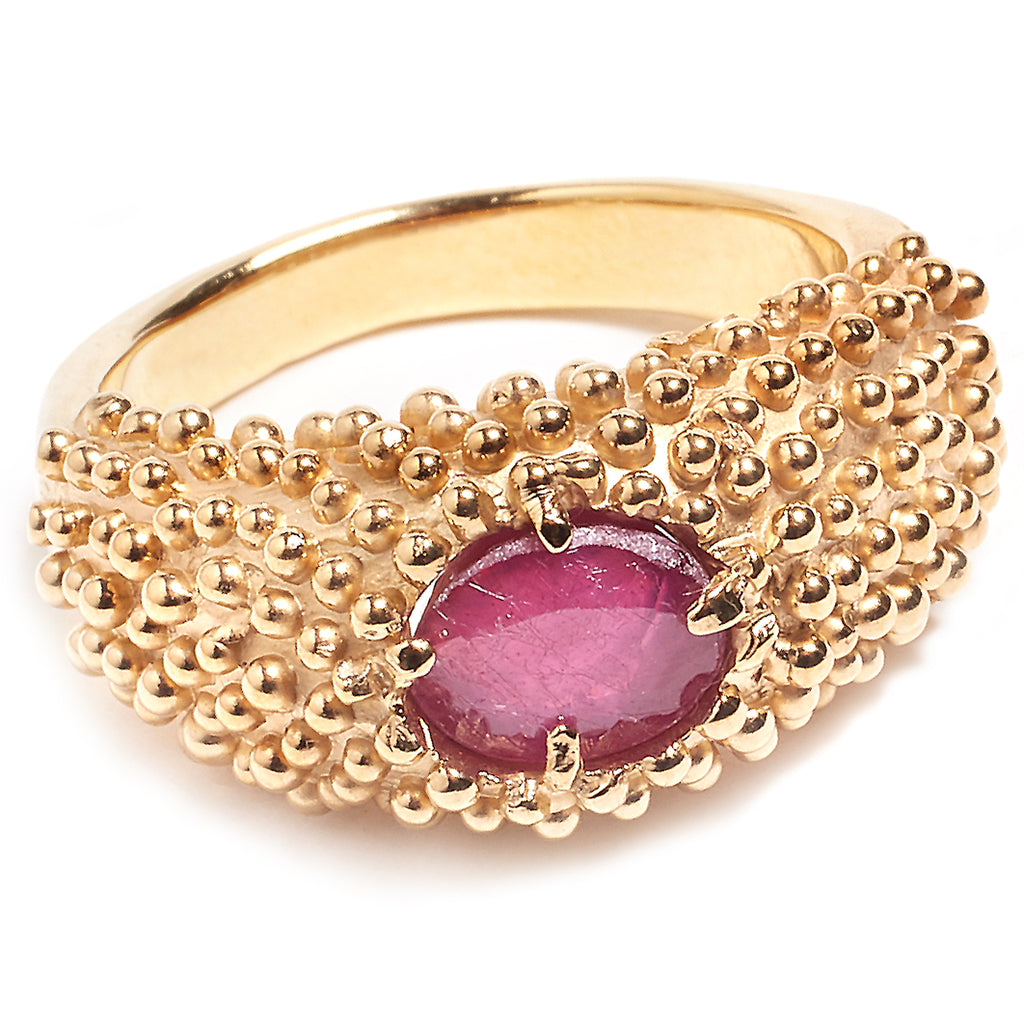 Gold and ruby ring