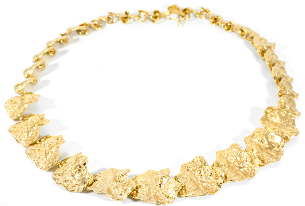 Gold plated silver choker
