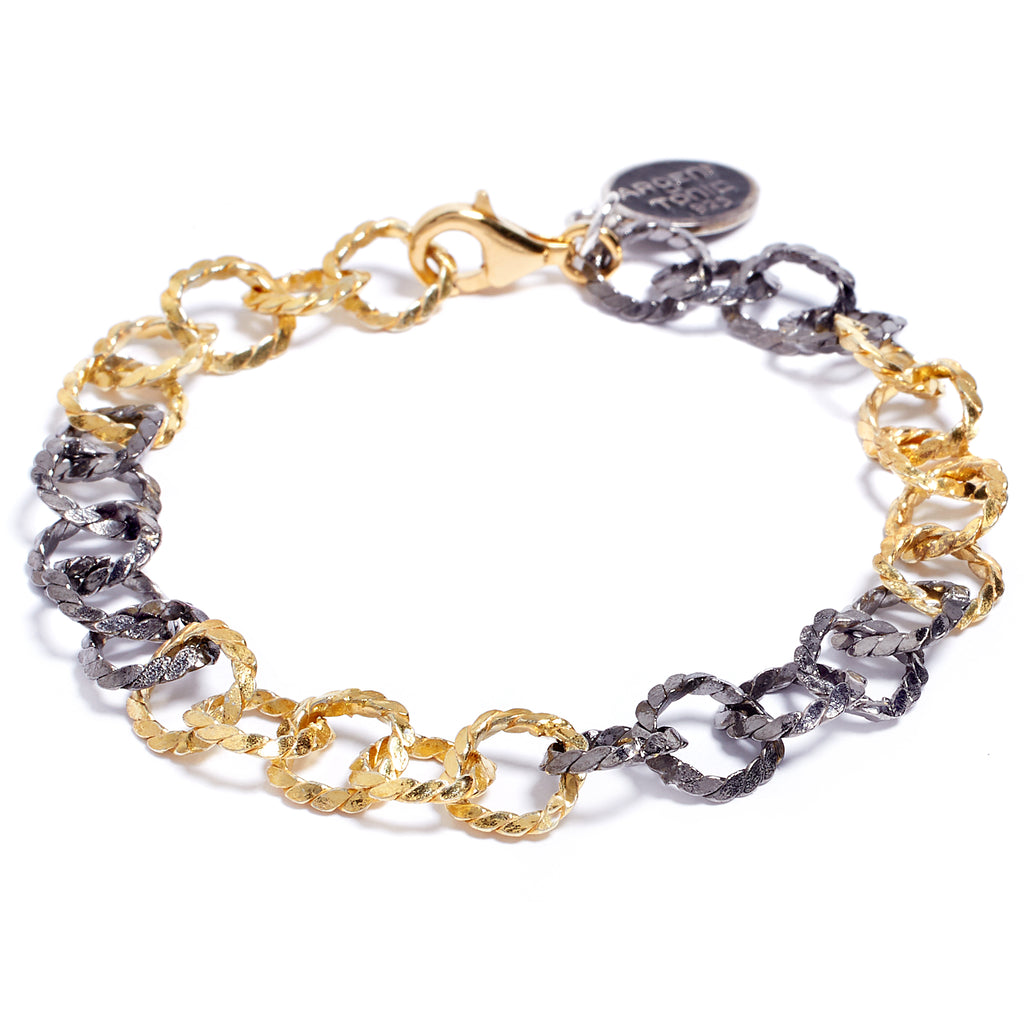 Gold and black bracelet