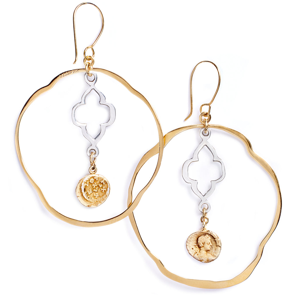 Earrings with Roman coins