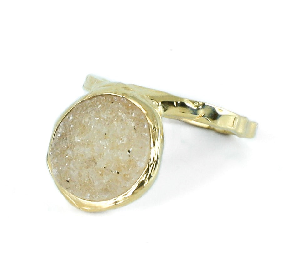 Golden and druse ring