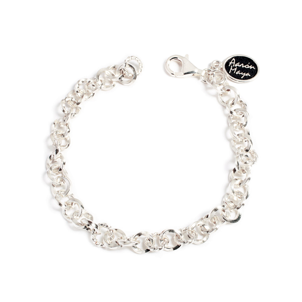 The silver chain bracelet
