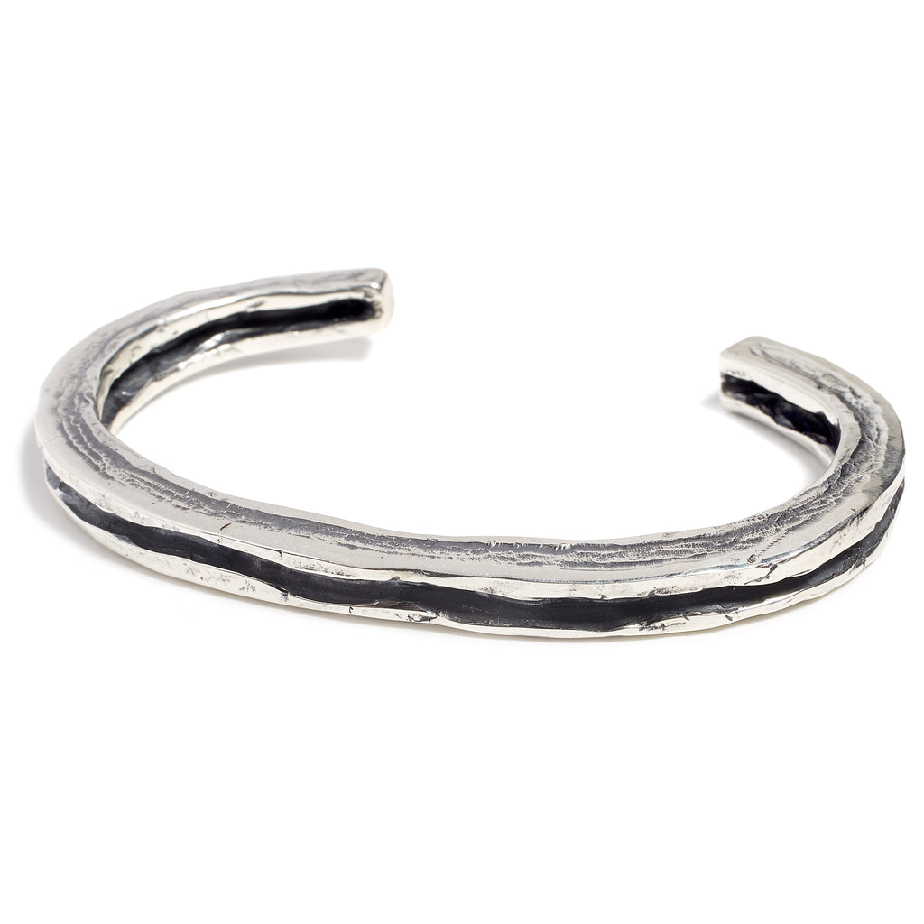Elegant silver bracelet for men