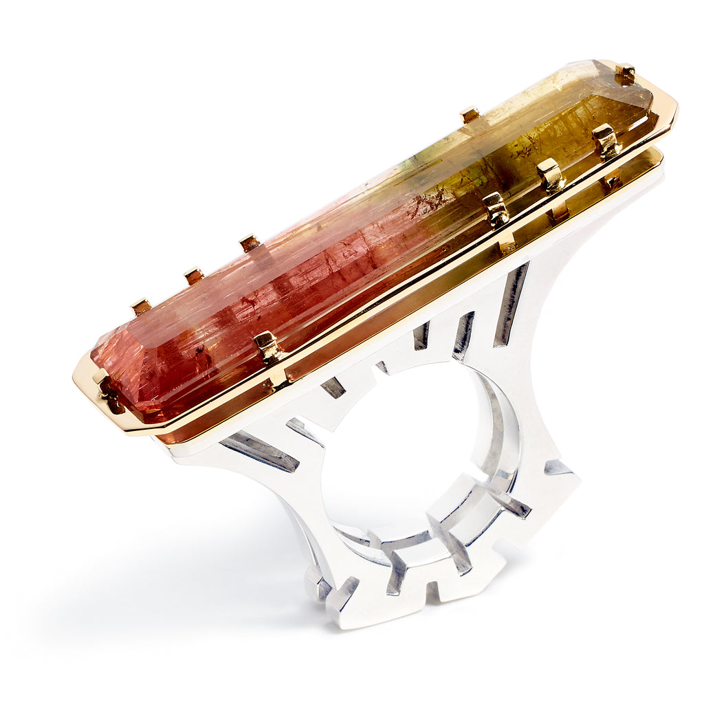Exceptional tourmaline ring