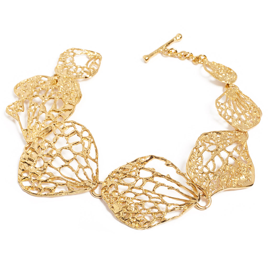 Gold-plated silver bracelet