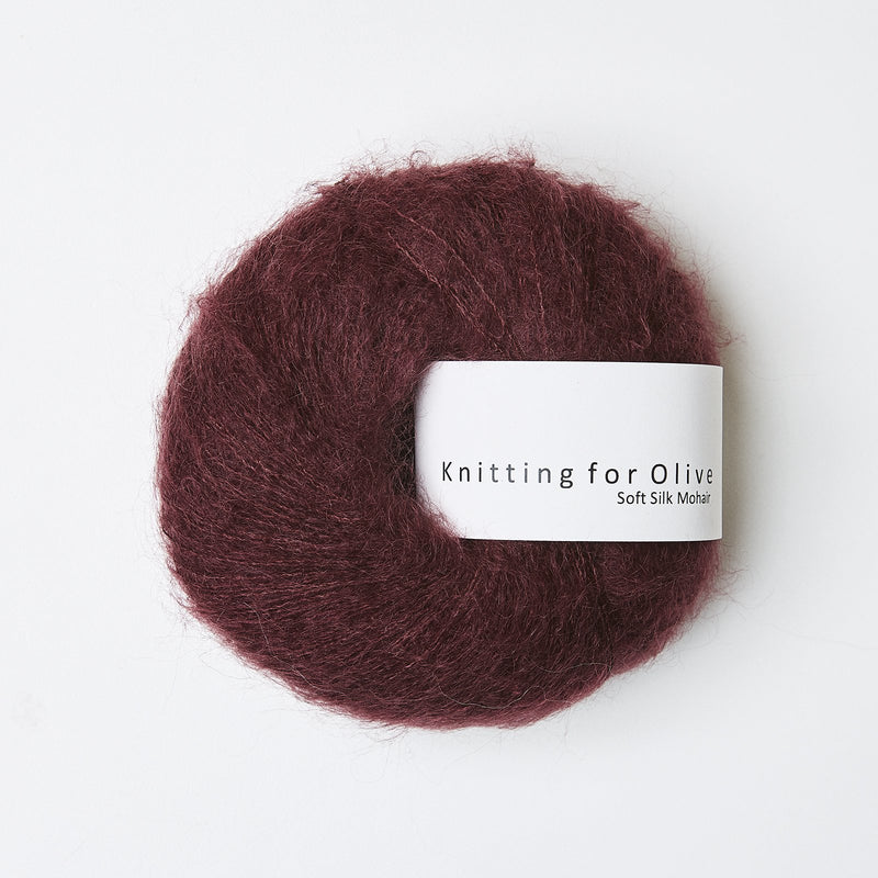 Knitting for Olive Soft Silk Mohair - Bordeaux