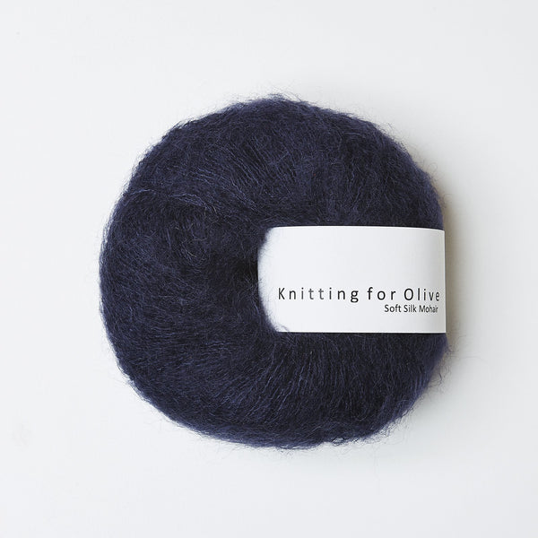 Knitting for Olive Soft Silk Mohair - Navy
