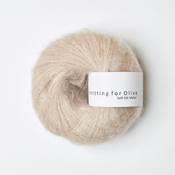 Knitting for Olive Soft Silk Mohair - Powder