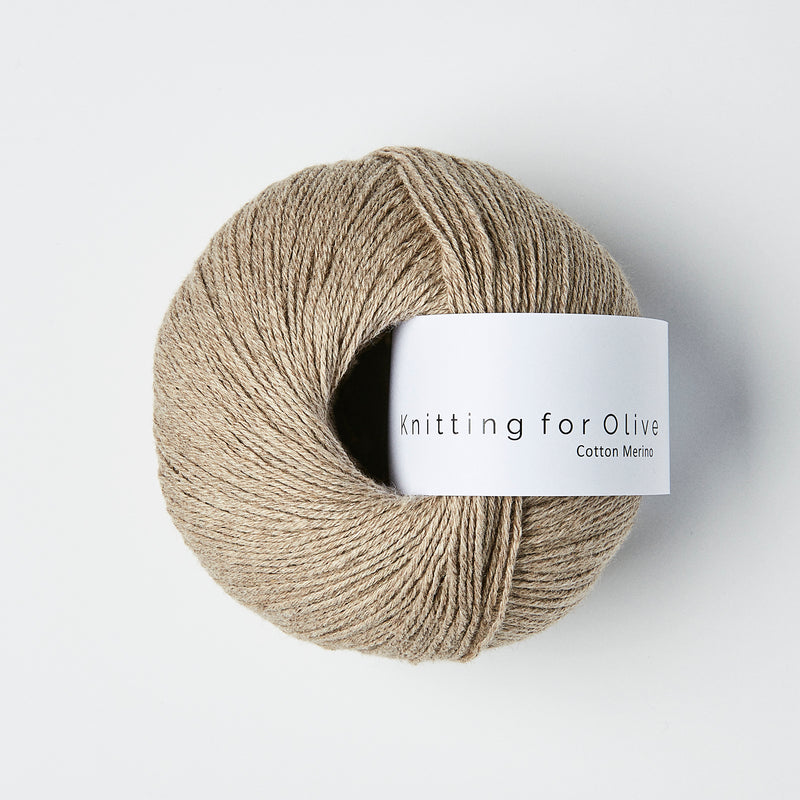 Knitting for Olive Cotton Merino - Oatmeal