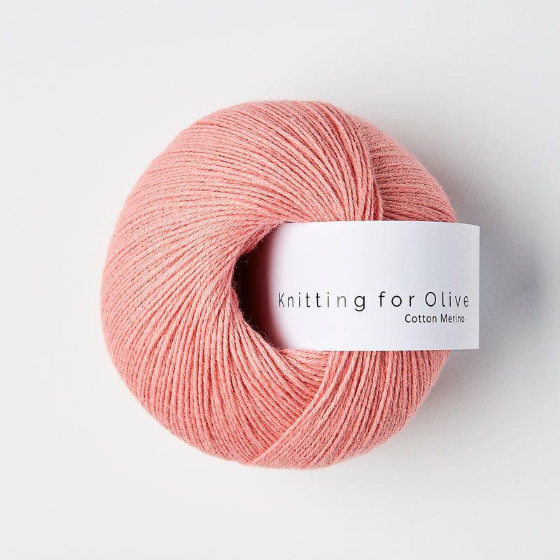 Knitting for Olive Cotton Merino - Coral