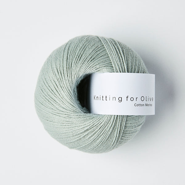 Knitting for Olive Cotton Merino - Soft Aqua