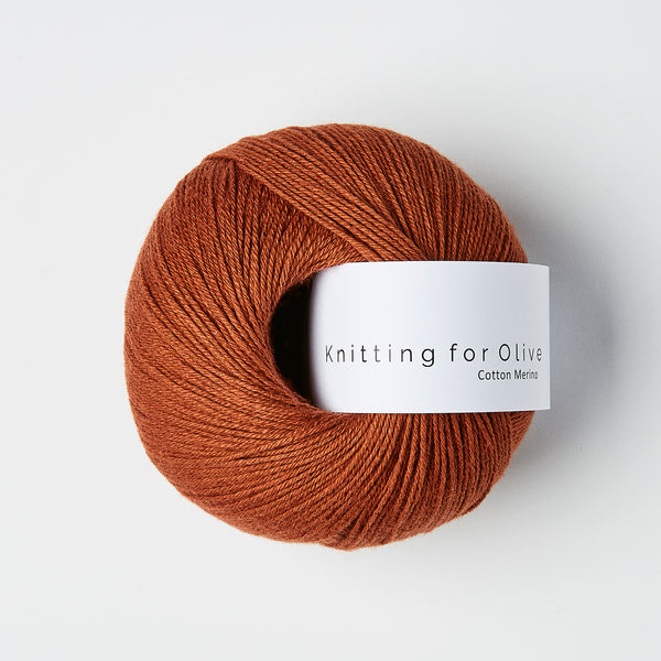 Knitting for Olive Cotton Merino - Rust