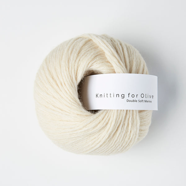 Knitting for Olive Double Soft Merino - White Lamb