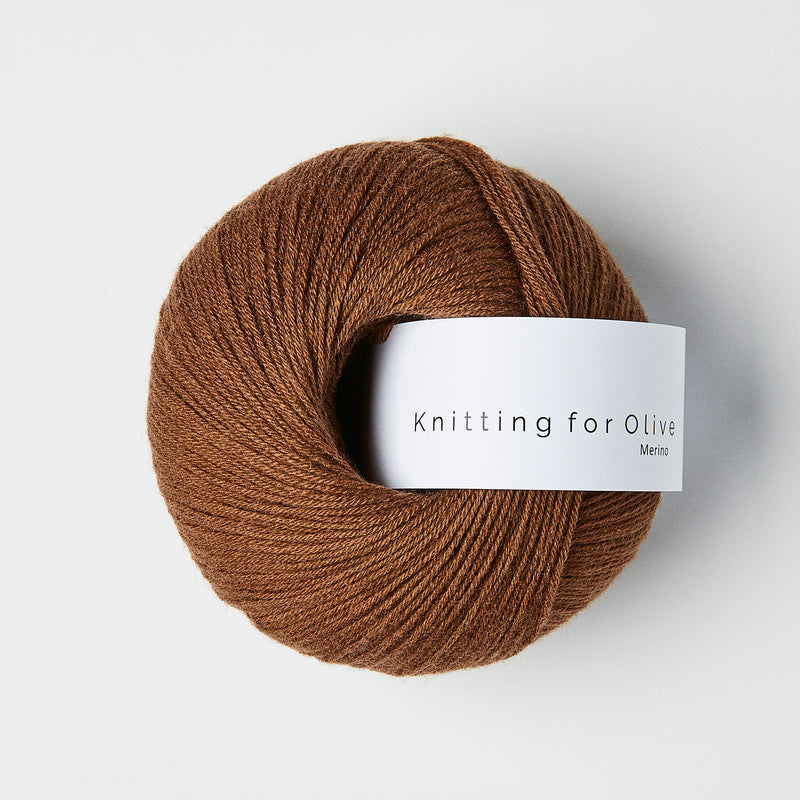 Knitting for Olive Merino - Dark Cognac