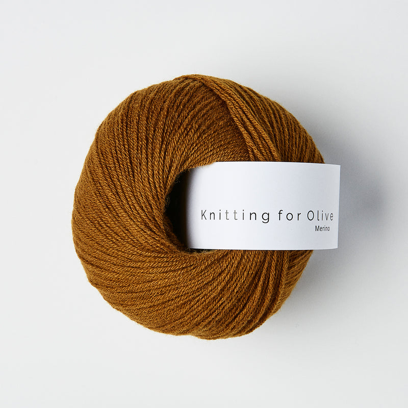 Knitting for Olive Merino - Ocher Brown