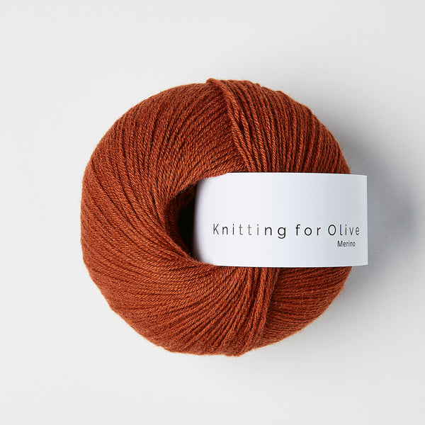 Knitting for Olive Merino - Rust