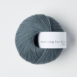 Knitting for Olive Merino - Dusty Petroleum Blue