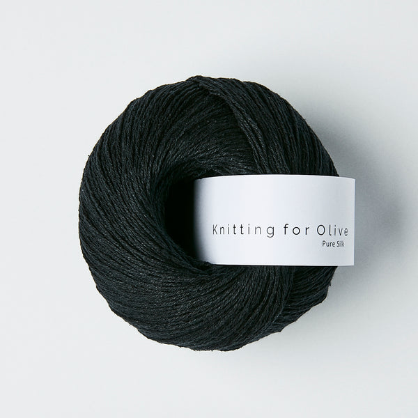 Knitting for Olive Pure Silk - Charcoal
