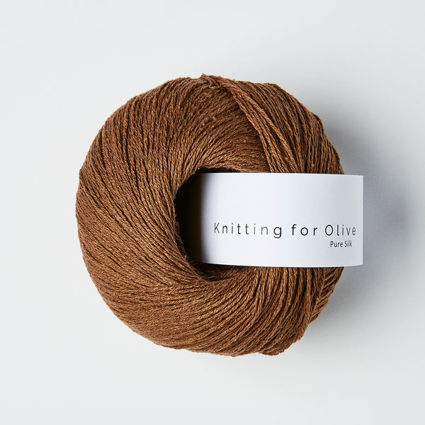Knitting for Olive Pure Silk - Dark Cognac