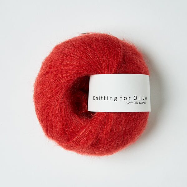 Knitting for Olive Soft Silk Mohair - Blood Orange