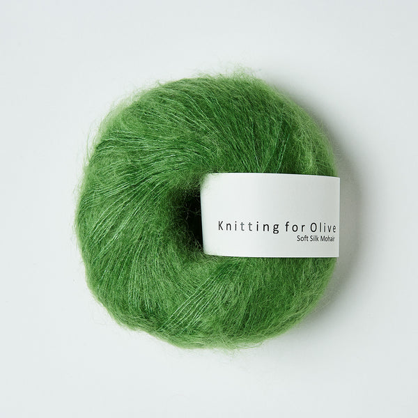Knitting for Olive Soft Silk Mohair - Clover Green