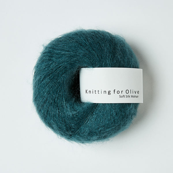 Knitting for Olive Soft Silk Mohair - Petroleum Green