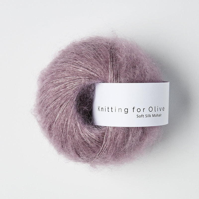 Knitting for Olive Soft Silk Mohair - Artichoke Purple