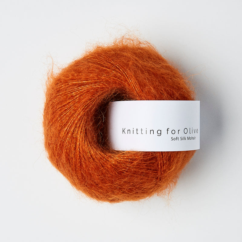 Knitting for Olive Soft Silk Mohair - Burnt Orange