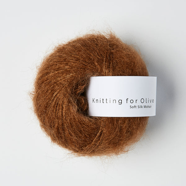 Knitting for Olive Soft Silk Mohair - Dark Cognac