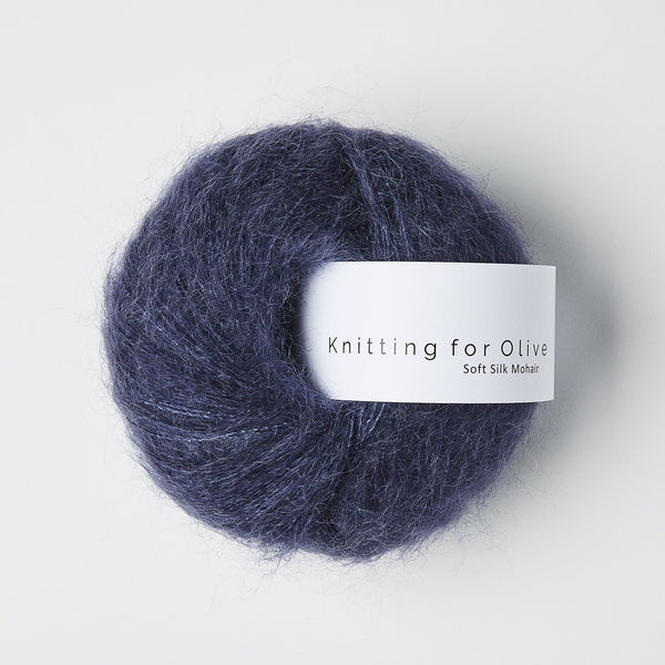 Knitting for Olive Soft Silk Mohair - Dark Blue