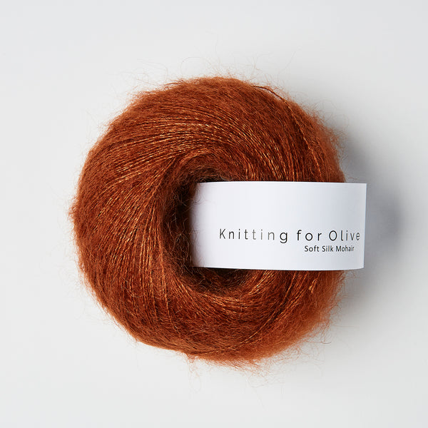 Knitting for Olive Soft Silk Mohair - Rust