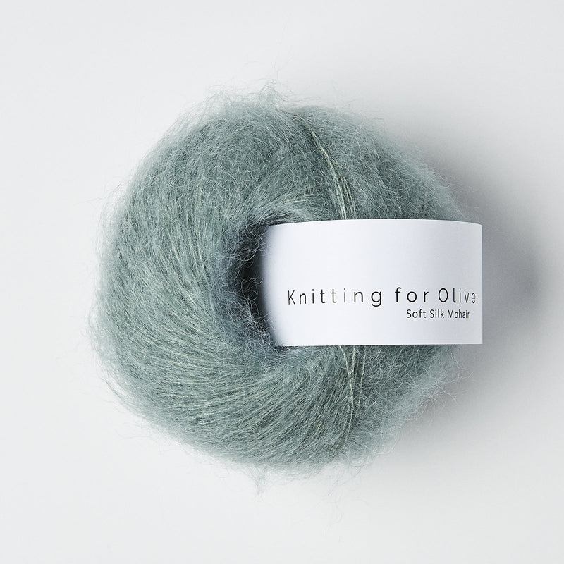 Knitting for Olive Soft Silk Mohair - Dusty Aqua